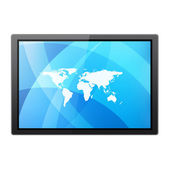 TV on white background — Foto Stock