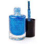 Blue nail polish — Stock Photo