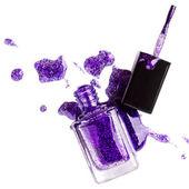 Purple nail polish — Stockfoto