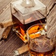 Stock Photo: Vintage cognac