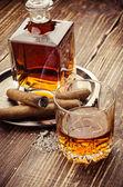 Vintage cognac — Stock Photo