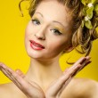 Funny young lady portrait — Stock Photo