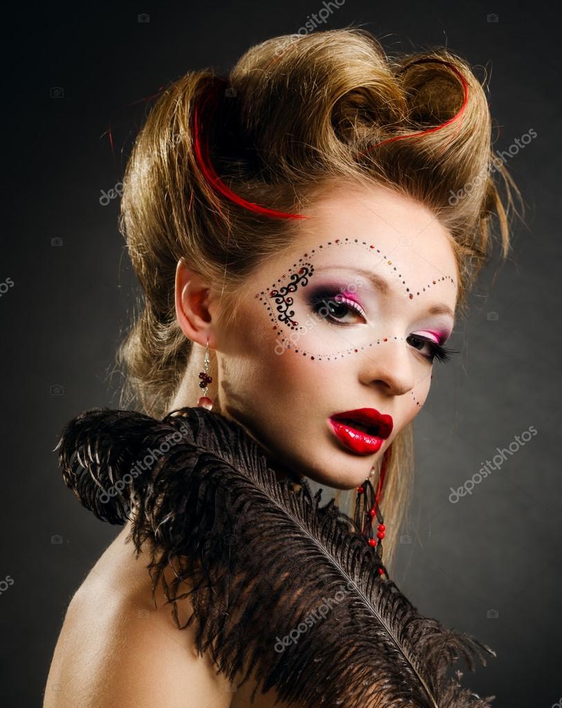 maquillage carnaval femme masque. Black Bedroom Furniture Sets. Home Design Ideas