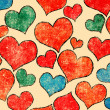 Stock Photo: Hearts background