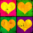 Foto Stock: Hearts background