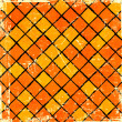 Orange  checkered background — Stock fotografie
