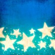 Blue stars background — 图库照片