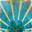 Blue heart background — Lizenzfreies Foto