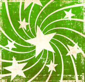 Grunge green stars background — Stock Photo