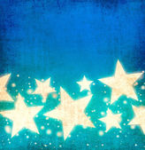 Blue stars background — Foto de Stock