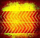 Orange grunge background with pointer — Stock Photo