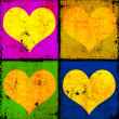 Grunge hearts background — Stock Photo