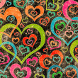 Vintage love pattern background — Stock Photo