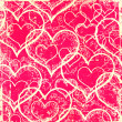 Pink hearts pattern — Stock Photo
