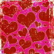 Grunge hearts background — Stockfoto