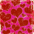 Grunge hearts background — Lizenzfreies Foto