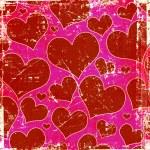 Grunge hearts background — Stock Photo
