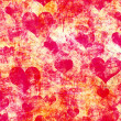 Grunge hearts background — Stock Photo #27834333