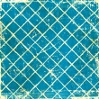 Blue grunge checkered background — Stock Photo