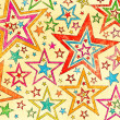 Stock Photo: Naive art abstract stars background