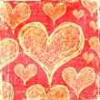 Stock Photo: Scratch hearts background