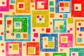 Naive art square background — Stock Photo