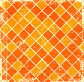 Orange grunge checkered background — Stock Photo