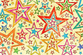 Naive art abstract stars background — Stock Photo