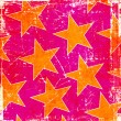 Pink grunge yellow stars background — Stock Photo