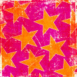 Stock Photo: Pink grunge yellow stars background