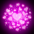 Purple abstract hearts background — Stock Photo #27846633