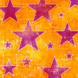 Grunge background with many stars — Stock Photo