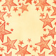 Stock Photo: Naive art stars background