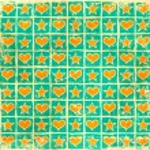 Grunge checkered stars hearts background — Stock Photo #27847949