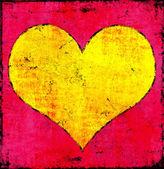 Nieczysty plakat serca — Zdjęcie stockowe