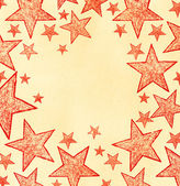 Naive art stars background — Stock Photo