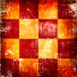 Stock Photo: Orange grunge checkered background