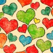 Stock Photo: Vintage hearts pattern