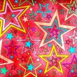 Stock Photo: Grunge stars background for decoration