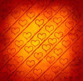 Grunge hearts pattern — Stock Photo