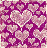 Grunge scratch love decoration pattern — Stock Photo