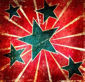 装饰的 grunge 黑暗星星图像 — 图库照片