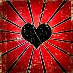 Grunge vector heart background — Stock Photo #27871819