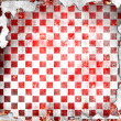 Red grunge checkered background — Stock Photo