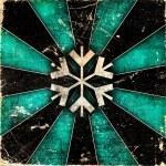 Grunge snowflakes background — Stock Photo