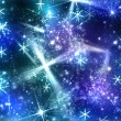 Abstract shine background with snowflake — Stock Photo