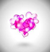 Abstract hearts illustration — Stock Photo