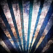 Grunge background with blue rays — Stock Photo