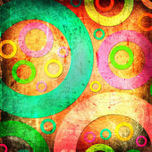 Grunge abstract circles background — Stock Photo