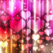 Abstract shine background with hearts — Stock Photo